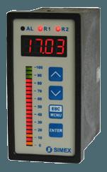 Simex display og indikatorer