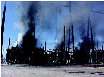 brand i transformerstation