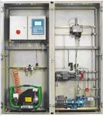 Oliemonitor i skab til kraftværk