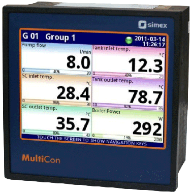 Multicon display og datalogger