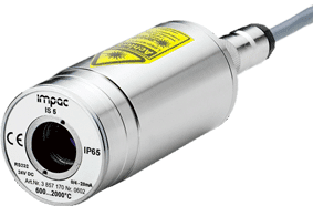 Fastmonteret pyrometer