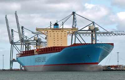 Emma Maersk med Deckma oliemonitor